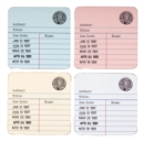 LIBRARY CARD COASTERS SET OF 4 - Book