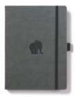 Dingbats A4+ Wildlife Grey Elephant Notebook - Plain - Book