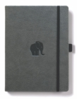 Dingbats A4+ Wildlife Grey Elephant Notebook - Lined - Book