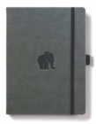 Dingbats A4+ Wildlife Grey Elephant Notebook - Dotted - Book