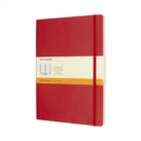 Moleskine Scarlet Red Extra Large Ruled Notebook Soft - Book