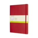 Moleskine Scarlet Red Extra Large Plain Notebook Soft - Book