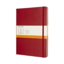 Moleskine Scarlet Red Extra Large Ruled Notebook Hard - Book