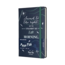 Moleskine Peter Pan Limited Edition Pirates Sapphire Blue Large Ruled Notebook Hard - Book
