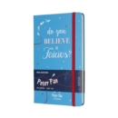 Moleskine Peter Pan Limited Edition Fairies Cerulean Blue Large Ruled Notebook Hard - Book