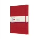 Moleskine Smart Writing Paper Tablet Red Xl Ruled Hard - Book