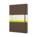 Moleskine Earth Brown Notebook Extra Large Plain Hard - Book