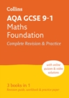 AQA GCSE 9-1 Maths Foundation All-in-One Complete Revision and Practice : Ideal for Home Learning, 2021 Assessments and 2022 Exams - Book