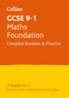 GCSE 9-1 Maths Foundation All-in-One Complete Revision and Practice : Ideal for Home Learning, 2021 Assessments and 2022 Exams - Book