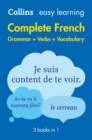 Easy Learning French Complete Grammar, Verbs and Vocabulary (3 books in 1) : Trusted Support for Learning - Book