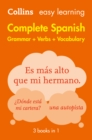 Easy Learning Spanish Complete Grammar, Verbs and Vocabulary (3 books in 1) - eBook