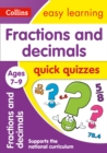 Fractions & Decimals Quick Quizzes Ages 7-9 : Prepare for School with Easy Home Learning - Book