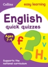 English Quick Quizzes Ages 7-9 : Prepare for School with Easy Home Learning - Book