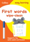 First Words Age 3-5 Wipe Clean Activity Book - Book