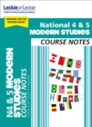 National 4/5 Modern Studies Course Notes for New 2019 Exams : For Curriculum for Excellence Sqa Exams - Book
