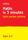 Letts Maths in 5 Minutes a Day Age 6-7 - Book
