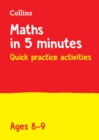 Letts Maths in 5 Minutes a Day Age 8-9 - Book