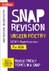 AQA Unseen Poetry Anthology Revision Guide : For the 2022 Exams - Book