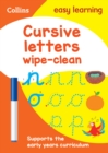 Cursive Letters Age 3-5 Wipe Clean Activity Book - Book