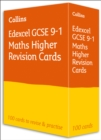 Edexcel GCSE 9-1 Maths Higher Revision Cards : Ideal for Home Learning, 2021 Assessments and 2022 Exams - Book