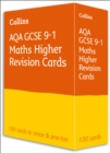AQA GCSE 9-1 Maths Higher Revision Cards : Ideal for Home Learning, 2021 Assessments and 2022 Exams - Book