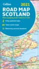 Map of Scotland 2021 : Folded Road Map - Book