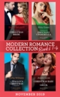Modern Romance November 2019 Books 1-4: His Contract Christmas Bride (Conveniently Wed!) / Confessions of a Pregnant Cinderella / The Italian's Christmas Proposition / Christmas Baby for the Greek - eBook