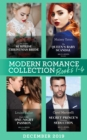 Modern Romance December 2019 Books 1-4: The Greek's Surprise Christmas Bride (Conveniently Wed!) / The Queen's Baby Scandal / Proof of Their One-Night Passion / Secret Prince's Christmas Seduction (Mi - eBook
