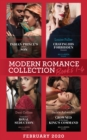 Modern Romance February 2020 Books 1-4: Indian Prince's Hidden Son / Craving His Forbidden Innocent / Cinderella's Royal Seduction / Crowned at the Desert King's Command - eBook