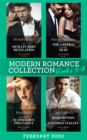 Modern Romance February 2020 Books 5-8: Her Sicilian Baby Revelation / The Greek's One-Night Heir / Bound by My Scandalous Pregnancy / Redemption of the Untamed Italian - eBook