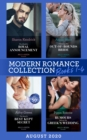 Modern Romance August 2020 Books 1-4: The Sheikh's Royal Announcement / Claiming His Out-of-Bounds Bride / The Maid's Best Kept Secret / Rumors Behind the Greek's Wedding - eBook