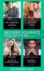 Modern Romance September 2020 Books 5-8: The Forbidden Cabrera Brother / One Night on the Virgin's Terms / The Sicilian's Banished Bride / The Most Powerful of Kings - eBook