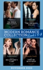 Modern Romance November 2020 Books 5-8: The Royal Pregnancy Test (The Christmas Princess Swap) / Innocent in the Sheikh's Palace / Playing the Billionaire's Game / The Vows He Must Keep - eBook