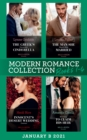 Modern Romance January 2021 B Books 1-4: The Greek's Convenient Cinderella / The Man She Should Have Married / Innocent's Desert Wedding Contract / Returning to Claim His Heir - eBook