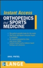 LANGE Instant Access Orthopedics and Sports Medicine - eBook