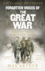 Forgotten Voices Of The Great War - Book