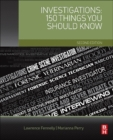 Investigations: 150 Things You Should Know - Book