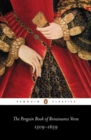 The Penguin Book of Renaissance Verse : 1509-1659 - Book