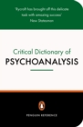 A Critical Dictionary of Psychoanalysis - Book