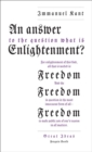 An Answer to the Question: 'What is Enlightenment?' - Book