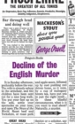 Decline of the English Murder - Book