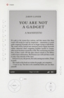 You Are Not A Gadget : A Manifesto - eBook