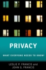 Privacy : What Everyone Needs to Know (R) - Book