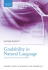 Gradability in Natural Language : Logical and Grammatical Foundations - eBook