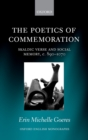 The Poetics of Commemoration : Skaldic Verse and Social Memory, c. 890-1070 - eBook
