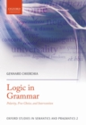 Logic in Grammar : Polarity, Free Choice, and Intervention - eBook