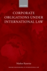 Corporate Obligations under International Law - eBook