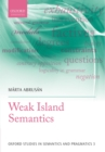Weak Island Semantics - eBook