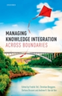 Managing Knowledge Integration Across Boundaries - eBook