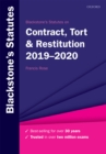 Blackstone's Statutes on Contract, Tort & Restitution 2019-2020 - eBook